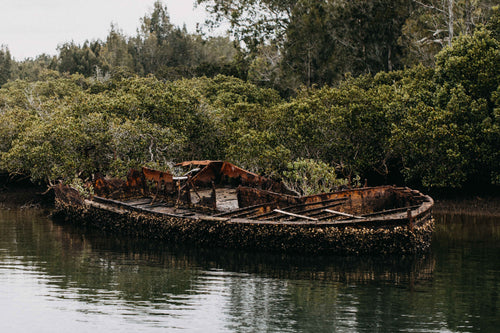Malabar Creek Oyster Boat IV Photographic Print