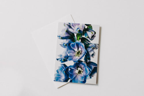 Blue Delphinium Greeting Card