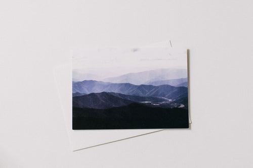 Highland Pastel Mountains Greeting Card