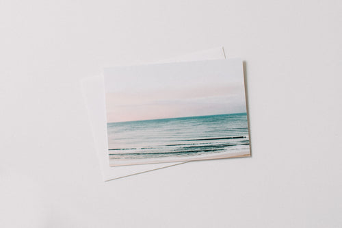 Pastel Ocean Sunset Greeting Card