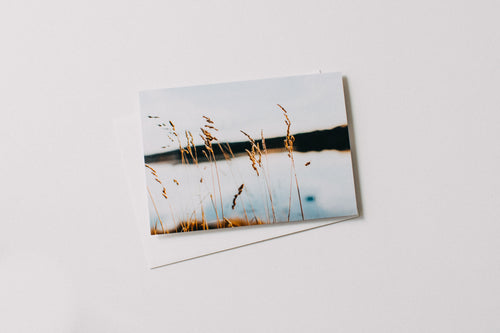 Highland Lake Grass Greeting Card