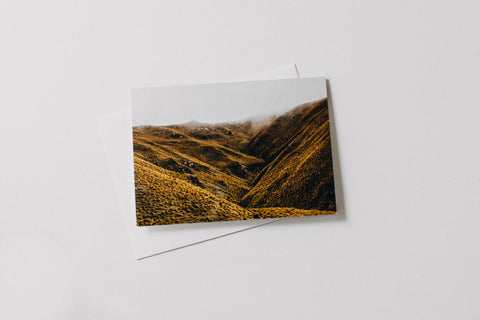 New Zealand Lindis Pass Greeting Card
