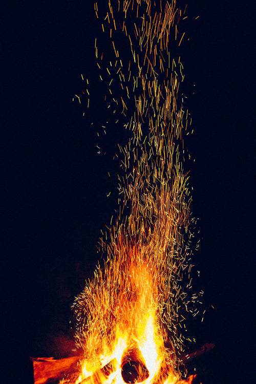 When the Fire Starts to Burn Photographic Print