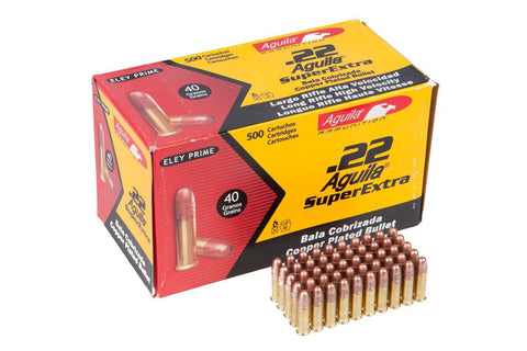 Aguila Super Extra  High Velocity Ammunition 22 Long Rifle