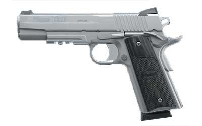 "SIG 1911R 45ACP 5"" 8RD STS FNS BLKWD"