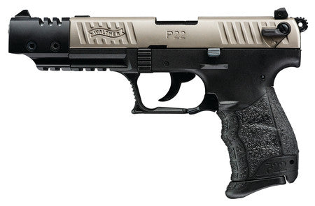 "WALTHER ARMS P22 Target .22 Long Rifle 5"" Barrel Nickel - CA"