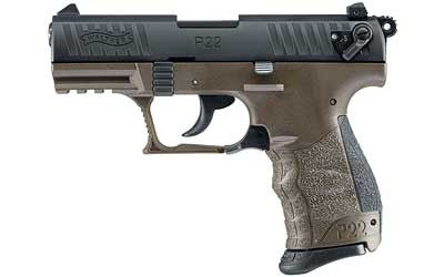 "WALTHER ARMS P22 Target .22 Long Rifle 3.4"" Barrel Military Green"