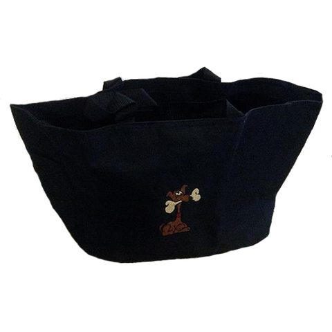 Embroidered Dog Tote Bag