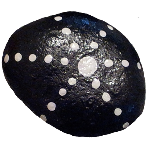 Black and White Stone Painted