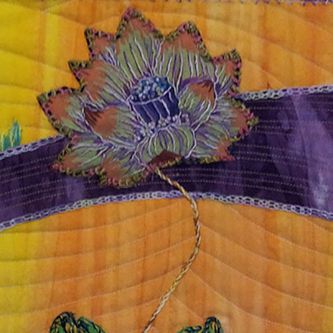 Fabric Art Quilt Flowers