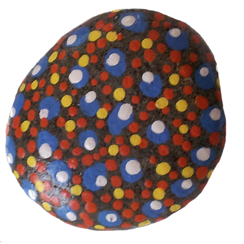 Multi-Color Painted Stone
