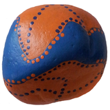 Orange Blue Painted Rock