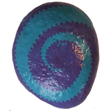 Purple Hand-Painted Stone