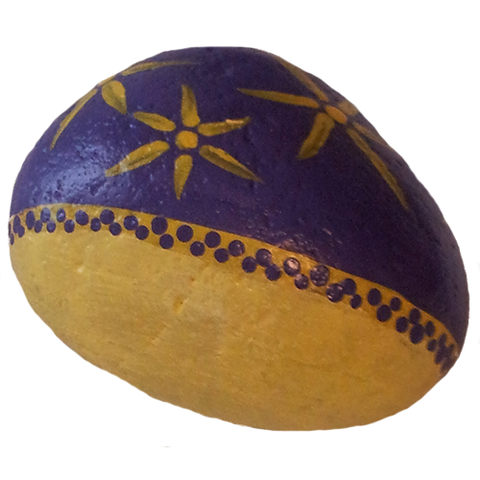 Abstract Decorated Painted Rock