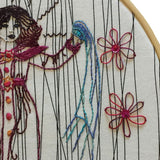 Embroidered Girl Wall Decor