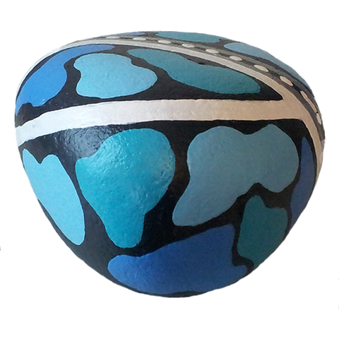 Blue Painted Rock
