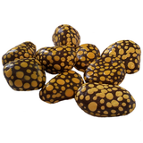 Brown and Yellow Small Painted Stones