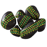 Green Dot Small Painted Stones
