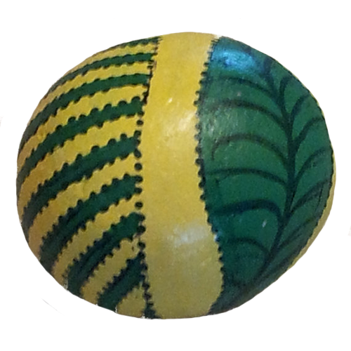 Green Abstract Rock Painting