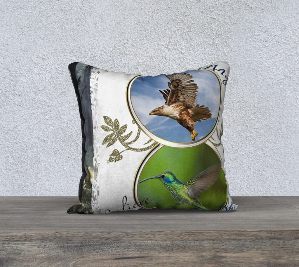 Birds Believe Pillow Case