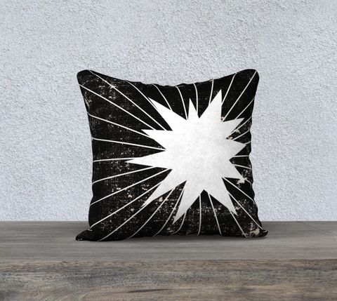 Black & White Starburst Pillow Case