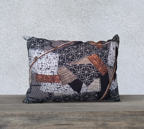 Brown Collage Pillow Case