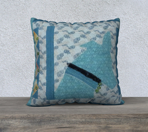 Turquoise Greyhound Pillow Case