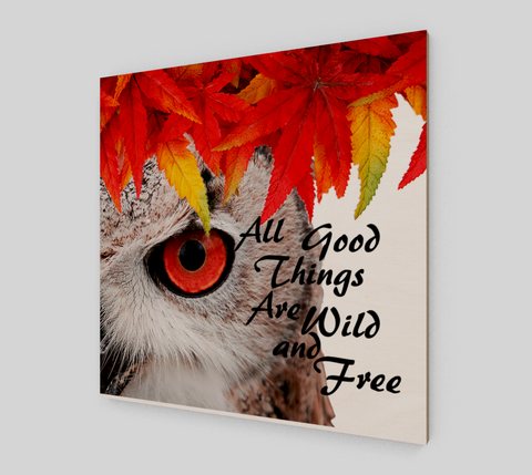 Owl Wood Art Print