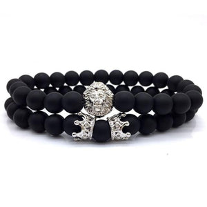 Leo King/Queen Crown Couples Bracelet [Set of 2] - Elegant AF