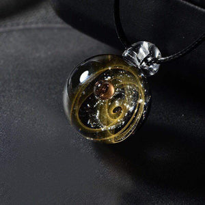 Mystical Universe In A Glass Pendant - Elegant AF