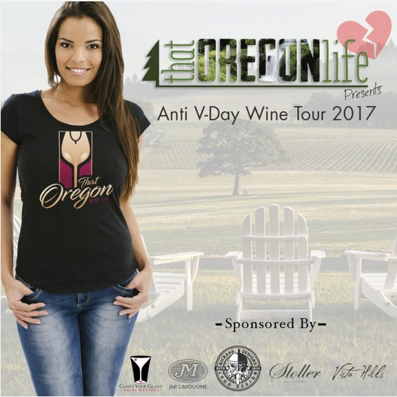 Free Oregon Party Bus Wine Tour, Happy Valentines Day!