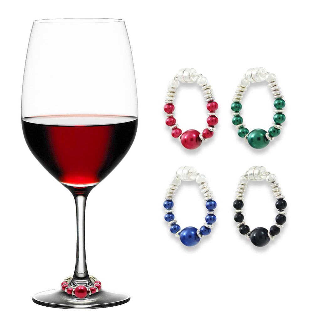 Beautiful & Bold Wine Charms - Set of 4