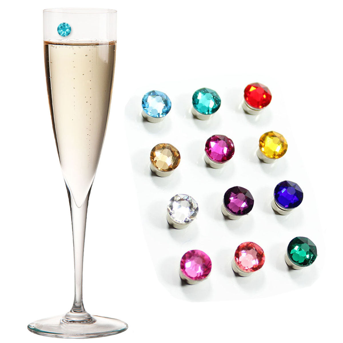 6pcs Wine Glass Charms Markers Drink Markers 3 Ties /& 3 Bows for Wine Glass Champagne Flutes Cocktails Martinis
