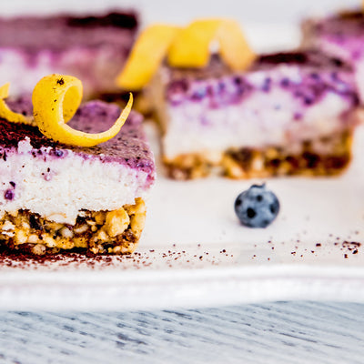 Raw Acai Lemon Bars