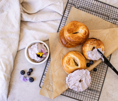 De-Stress Blueberry Cream Cheese Bagels