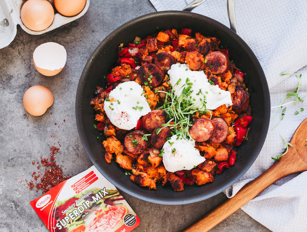 Can't Get Enough Of: Smokey BBQ Chorizo Hash & Eggs