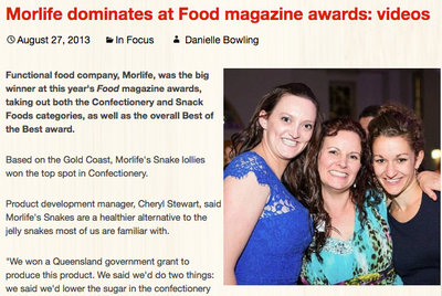 Morlife Dominates at Food Magazine Awards