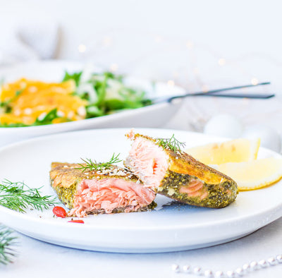 Falafel Crusted Salmon