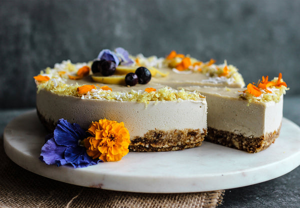 Lemon Lucuma & Coconut Raw Cheesecake