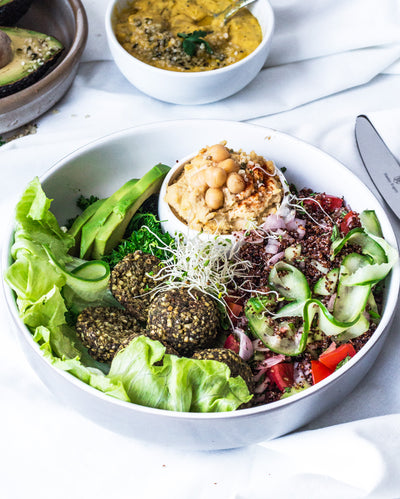 Tabbouleh Salad with Glorious Hemp Falafels