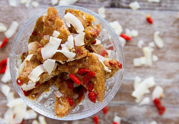Goji Coconut Almond Triangles