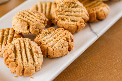 Sugar-free Peanut Butter Shortbread Cookies