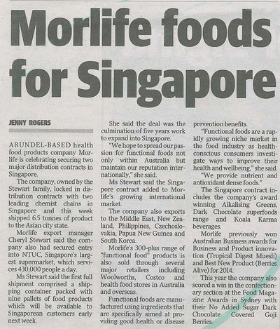 Morlife foods for Singapore