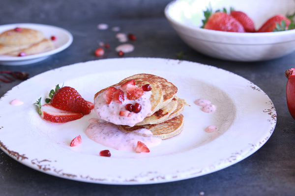 Strawberries & Cream Vanilla Protein Pikelets