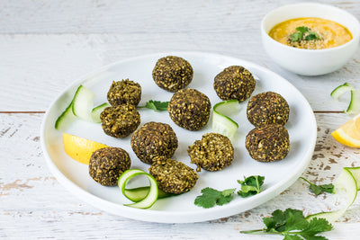 3 Ingredient Falafels With A Side Of 3 Ingredient Dip