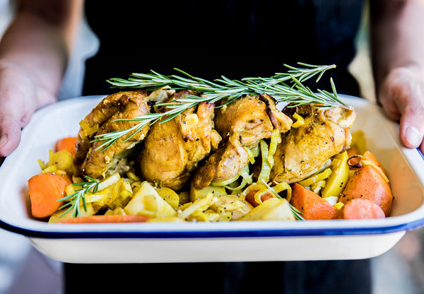 Turmeric Roast Chicken With Quinoa and Vegetables