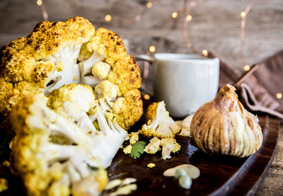Turmeric Roasted Whole Cauliflower