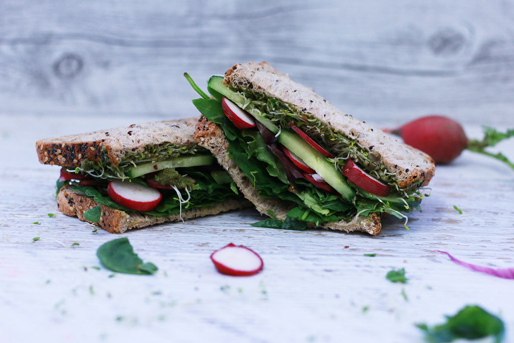 Alkalising greens sandwich recipe