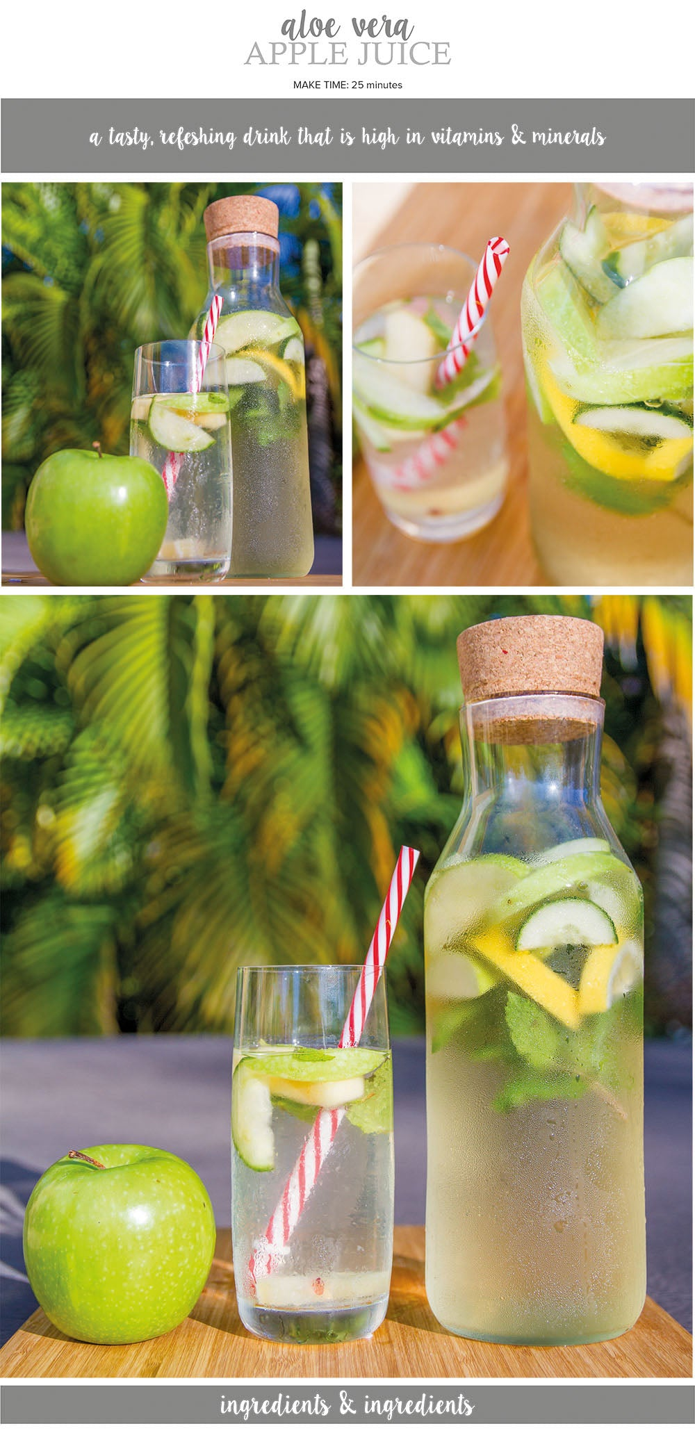Aloe vera apple juice recipe