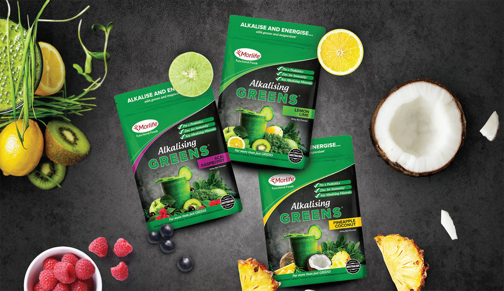 New alkalising greens flavours